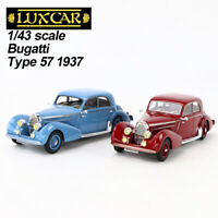 1/43 LUXCAR Bugatti Type 57 1937 Blue & Red Collection Rare Royale Car Model