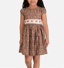 BONNIE JEAN® Toddler Girl 3T Leopard Print Smocked Dress NWT $58