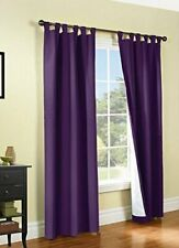 ThermaLogic Energy Efficient Insulated Blackout Curtains 80X63 Aubergine Purple