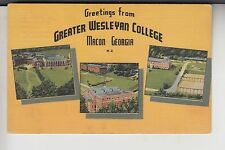 3 View Greetings from Greater Wesleyan College Macon Ga Georgia