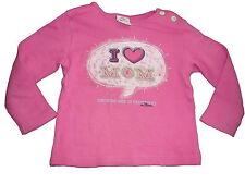 s. Oliver süßes Langarm Shirt Gr. 68 rosa mit Schriftzugdruck !!