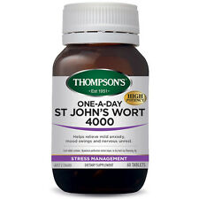 New THOMPSON'S One-A-Day ST JOHNS WORT 4000mg 60 tablets Thompsons St John's