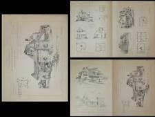 COTTAGES AU ETATS UNIS - PLANCHES ARCHITECTURE 1900 - COMSTOCK, SWINNERTON, MOTT