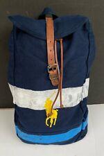 Polo Ralph Lauren Big Pony Painted Stenciled Back Pack Shoulder Bag NEW