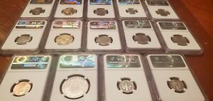 NGC GRADED US 14 COIN Collection ALL SP70 or PF70 MUST SEE!