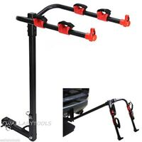 "2 Bike Bicycle Rack Steel Hitch Carrier Holder 1-1/4"" 2"" Trailer Hitch Receivers"