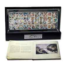 Niue 2011 - 33 X 1$ The Sistine Chapel Ceiling Fresco 1 Kg Silver Set Coins RAR