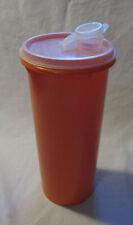 Vintage SLIMLINE Tupperware 1 qt Size Beverage almond sheer Plastic Pitcher