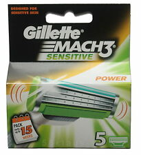 5er Gillette Mach 3 Sensitive Power Klingen Sensitve OVP Set Pack Gilette
