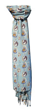 Horse Print Scarf in Teal by Peony - BNWT 180cm x 70cm