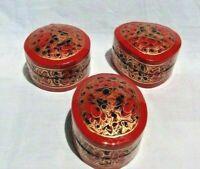 "2"" Hand Painted Paper Machie Box, Kashmir Paper Mache Ring Box (Set of 3)"