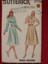 "Butterick Vintage Dress Sewing Pattern Size 12 Bust 34"""