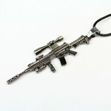 NEW Stainless Steel M4A1 Semi-automatic shotgun Assault Toy Gun Pendant Necklace