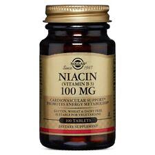 Solgar Niacin (Vitamin B3) 100 mg 100 Tablets FRESH Made In USA FREE US SHIPPING