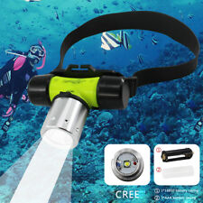 CREE T6 White LED Diving Headlight Headlamp Underwater Flashlight Torch Light