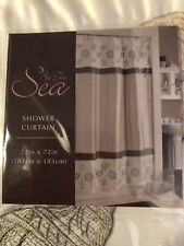 BY THE SEA SHOWER CURTAIN NEW