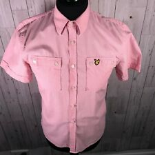 Da Uomo Lyle /& Scott Vintage Polo Shirt BELLE ROSA A RIGHE LARGE /& XLARGE 012016