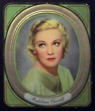 Madeleine Carroll 1936 Garbaty Passion Film Star Embossed Cigarette Card #165