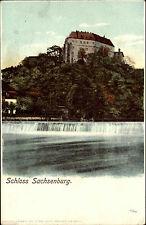 Litho-AK ~1900 Schloss Sachsenburg Sachsen AK Heliocolorkarte Verlag Zieher