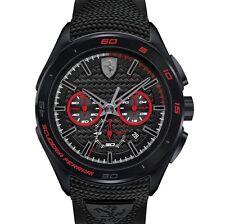 NEW Scuderia Ferrari Watch, Men's Chronograph Black Red Gran Premio 830344 45mm