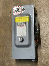Square D Hu363awkei 100 Amp 600 Vacvdc Safety Switch Disconnect 3 Pole Grace In