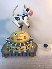 "1999 Enesco Corp ""No Dreams Too Far"" Cow Jumps Over The Moon Music Box"