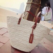 Women Tote Shopping Beach Bag Straw Woven Shoulder Purse Handbag Summer Shopper