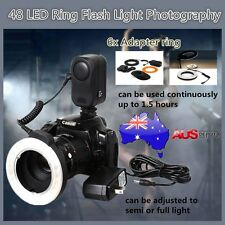 48 LED Rechargeable Video Camera Macro Ring For Canon Nikon Pentax