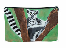 Lemur Cosmetic Bag by Salvador Kitti - Support Wildlife Conservation, Read