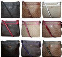 Coach Signature Crossbody PVC Purse Handbag File Bag NEW COLORS ADDED F29210