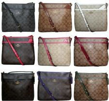 Coach Crossbody Bag Signature File  PVC Medium Purse Handbag Messenger F29210
