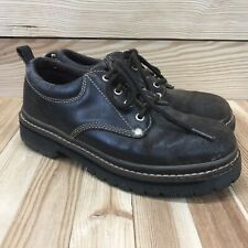 Vtg 90s Skeckers 8 Brown Leather Chukka Boot Low Top Lace-Up Style 7914 B155