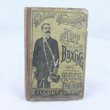 """1888 ILLUSTRATED BOOK """"ART OF BOXING AND MANUAL TRAINING"""" BY WILLIAM EDWARDS"""