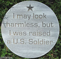 U.S. military Soldier  plaque plastic mold see more military molds in my store