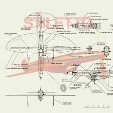 "Model Airplane Plans Vintage Control Line Proto Speed Plane 1/2A Span 14"""