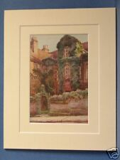 RESTORATION HOUSE ROCHESTER DICKENS VINTAGE DOUBLE MOUNTED HASLEHUST PRINT 10X8