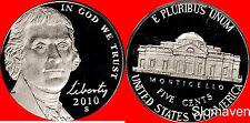 2010 S Jefferson Nickel Deep Cameo Gem Proof No Reserve