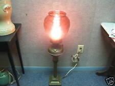 Vintage Banquet Parlor Lamp Oil Converted To Electric