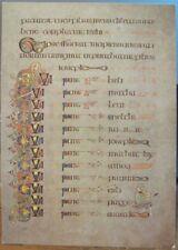 Irish Postcard BOOK OF KELLS Genealogy St Luke Gospel Balding Mansell U Dublin