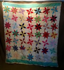 Antique Quilt Handcrafted Star Quilt
