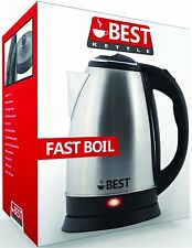 Electric Tea Kettle Coffee Pot Hot Water FAST BOIL Cordless Stainless Steel 2.0L