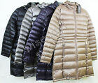 NWT Ladies Andrew Marc Long Hooded Packable Puffer Down Jacket S M L XL Variety