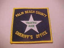 PALM BEACH COUNTY FLORIDA TRAFFIC AIDE POLICE PATCH 3 1/2  X 3 1/2 INCH RARE
