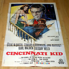 CINCINNATI KID manifesto poster affiche Steve McQueen Ann Margret G Robinson