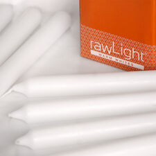 DINING CANDLES -  Straight Edged - 21 x 250mm - White - 20 Pack