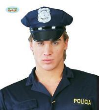 Cappello Poliziotto Tessuto Travestimento Uomo Polizia Carnevale Agente Teatro