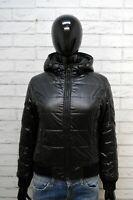 REFRIGIWEAR Giacca Giubbotto Nero Donna Taglia S Cappotto Jacket Woman Black