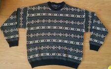 Roundtree yorke men's sweater XLT Tall man winter snowflake theme crew neck XL