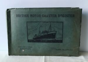 A C Hardy - British Motor Coaster Register 1936 - UK 1st PB 1936