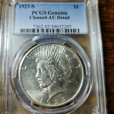 VINTAGE PCGS CERTIFIED GENUINE 1923-S Silver Peace Dollar,EXCELLENT GRADE COIN